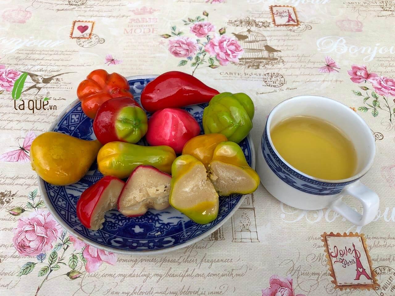 bánh đậu xanh trái cây, bánh trái cây đậu xanh, bánh đậu xanh hình trái cây, đặc sản huế, đặc sản lá quê, bánh huế, bánh lá quê