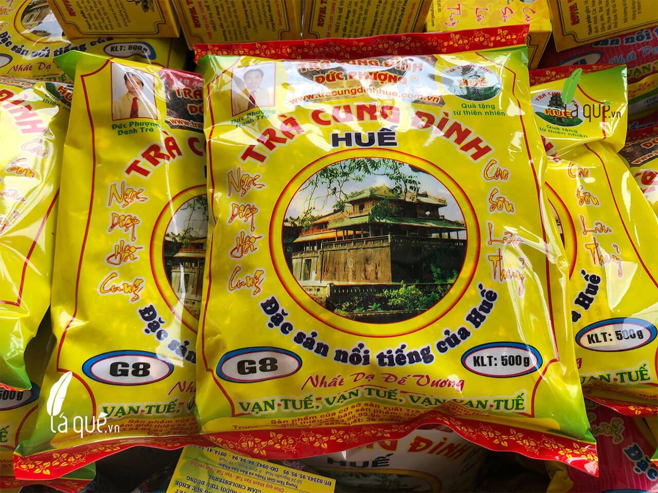 trà thảo mộc cung đình Huế, trà cung đình Huế, trà cung đình, trà cung đình Huế đức phượng