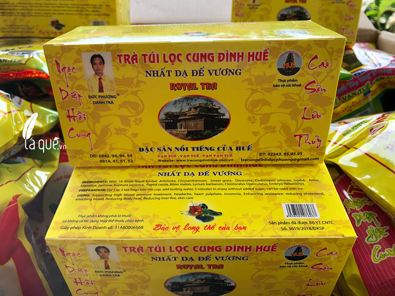 trà túi lọc cung đình Huế Đức Phượng, trà cung đình g9, trà cung đình Huế, trà cung đình, trà cung đình Huế đức phượng